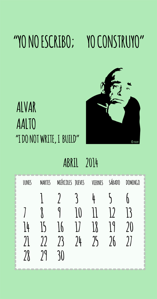 ABRIL cell smartphone desktop Alvar Aalto April I do not write, I build