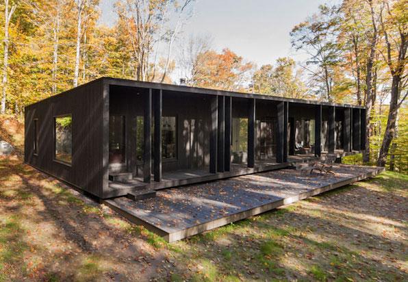 architecture chaletforesteir en modusvivendi madera negra black wood
