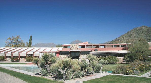 frank lloyd wright taliesin paisaje landscape modusvivendi prefab modular arquitectura